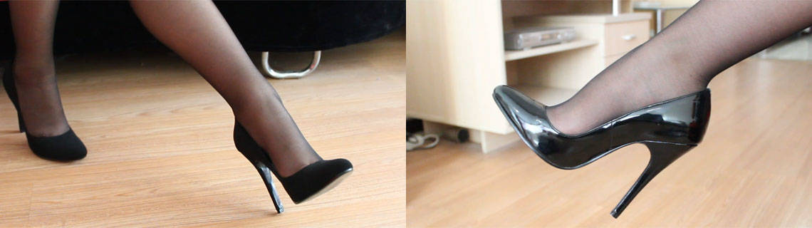 High Heels Video Screenshot from Clip No.141(left) and No.208(right)